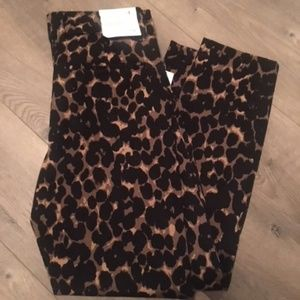 Gap Slim City Crop Pant Animal Print NWT 4